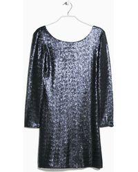 Mango Blue Sequin Dress - Lyst