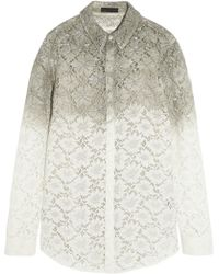 Burberry Prorsum Dip-Dyed Lace Shirt - Lyst