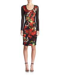 Jean Paul Gaultier Mixed-Media Digital-Print Dress floral - Lyst