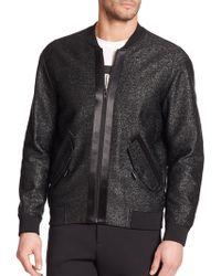 Alexander Wang Metallic Raffia Bomber Jacket - Lyst