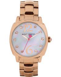 Betsey Johnson Women'S Rose Gold-Tone Bracelet Watch 41Mm Bj00427-03 - Lyst