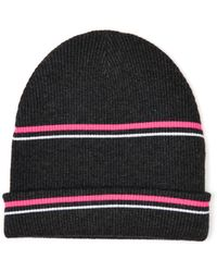 T By Alexander Wang Striped Ribbed-Knit Beanie - Lyst