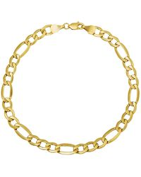Lord & Taylor - 14k Yellow Gold Figaro Chain Link Bracelet - Lyst