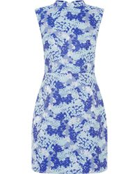 Oasis Oriental Jacquard Shift Dress blue - Lyst