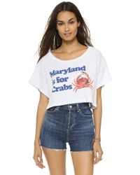 Wildfox - Maryland Valley Girl Beach Tee - Clean White - Lyst