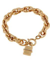 Rachel Zoe Gavriel 12K Gold Lock Bracelet - Lyst