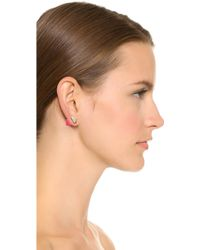 Marc By Marc Jacobs - Double Ended Pyramid Earrings - Black - Lyst