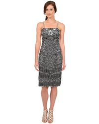 Sue Wong Spaghetti Strap Dress - Lyst