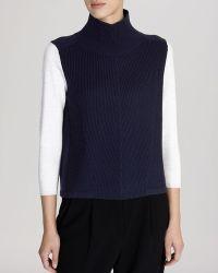 Karen Millen Sweater - Color Block Turtleneck - Lyst