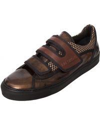 Raf Simons Low Velcro Strap Sneaker Bronzebrown - Lyst