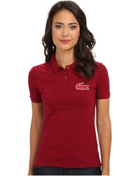 Lacoste Lve Ss Pique Winking Croc Polo - Lyst