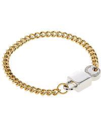 Marc By Marc Jacobs Lock-In Bracelet - Metallic