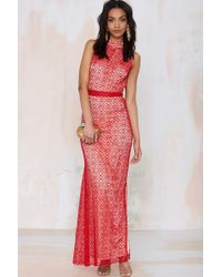 Nasty Gal Again Isabel Lace Maxi Dress - Lyst