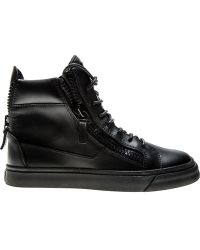 Giuseppe Zanotti Zip-Detail High-Top Sneakers - Lyst