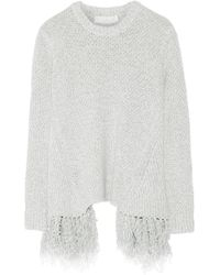 Thakoon - Addition Fringed Knitted Jumper - Lyst