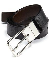 Coach Textured Leather Belt black - Lyst