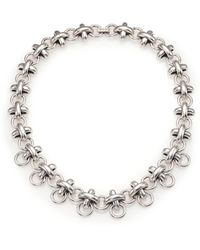 Giles & Brother | X Knot Chain Necklace | Lyst