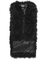 Givenchy Vest in Black Shearling - Lyst