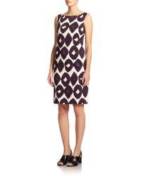 Max Mara Jessica Diamond-Print Dress - Lyst