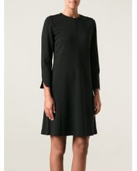 Tory Burch Black Flared Dress - Lyst