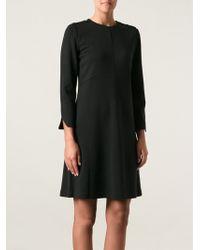 Tory Burch Black Flared Dress - Lyst