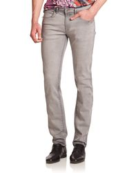Versace Slim-Fit Jeans gray - Lyst