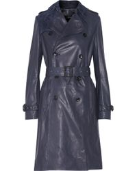 Joseph Townsend Leather Trench Coat - Lyst