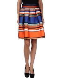 Alberta Ferretti Knee Length Skirt - Lyst