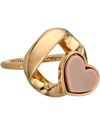 Marc By Marc Jacobs Linked Heart Ring - Lyst