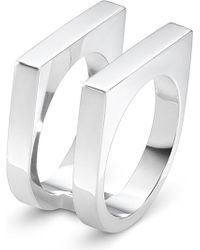 Georg Jensen - Aria Sterling Silver Two Row Ring - Lyst