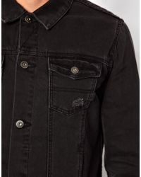 Simon Carter - Asos Denim Jacket with Distressed Effect - Lyst