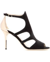 Jimmy Choo Tendor Suede And Leather Sandals - Lyst
