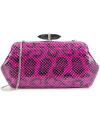 Judith Leiber Whitman Anaconda Clutch - Lyst