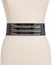 Lauren by Ralph Lauren Patent Leather Stretch Belt 3in - Lyst