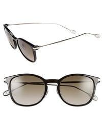 Gucci Women'S 51Mm Retro Keyhole Sunglasses - Black/ Palladium - Lyst