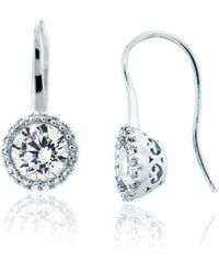 Lord & Taylor - Facets Sterling Silver And Glitz Drop Earrings - Lyst