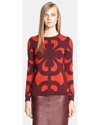 Alexander McQueen Women'S Intarsia Knit Wool Blend Sweater - Lyst