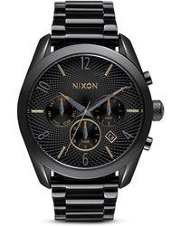 Nixon The Bullet Chrono Watch black - Lyst