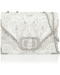 Marchesa Valentina Embellished Leather Shoulder Bag - Lyst