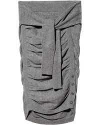Band Of Outsiders Ruched Miniskirt - Lyst