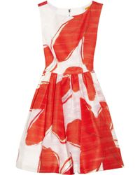 Alice + Olivia Essie Printed Jacquard Dress - Lyst
