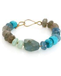 Lena Skadegard - Turquoise, Aquamarine, Rutilated Quartz & Peruvian Opal Beaded Bracelet - Lyst