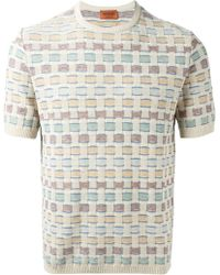 Missoni Short Sleeve Woven Sweater - Lyst