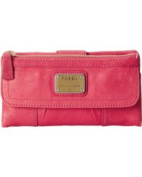 Fossil Emory Clutch pink - Lyst