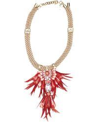 Matthew Williamson Hibiscus Tribal Jewel Necklace - Lyst