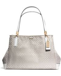 Coach Madison Cafe Carryall In Op Art Pearlescent Fabric - Lyst