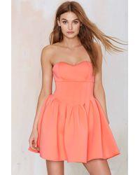 Nasty Gal Sweet Emotion Neoprene Dress pink - Lyst