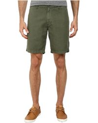 AG Adriano Goldschmied Wanderer Cotton-Linen Blend Shorts In Sulfur Vine Canopy - Lyst
