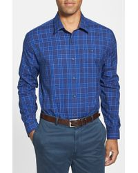 Cutter & Buck 'Nelson' Classic Fit Plaid Sport Shirt - Lyst