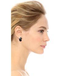 Tom Binns - Dumont Pearl Noir Crystal Stud Earrings - Lyst